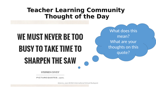 Questioning Teacher Learning Community