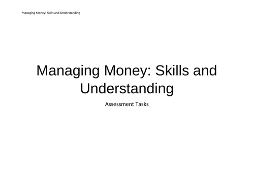 Managing Money Skills Assessment Programme - Inclusion