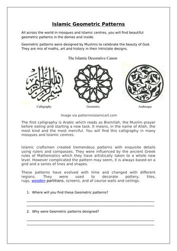 Islam geometric patterns RE
