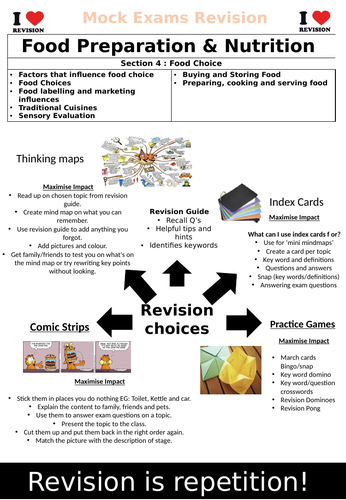 AQA GCSE Food Preparartion & Nutrition Section 4 Revision Book