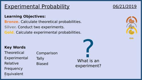 Experimental Probability: Lesson 6/13