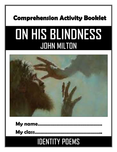 On His Blindness - Knowledge Organiser/ Revision Mat!