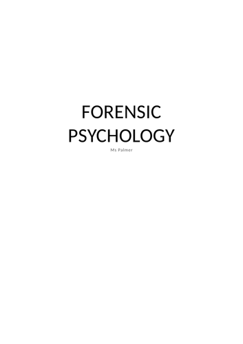 Forensic psychology notes