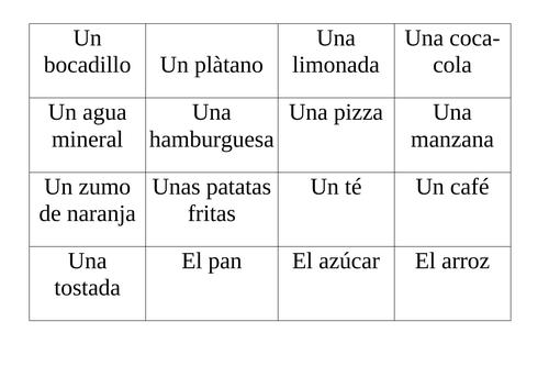 Spanish food and drink pairs game - Mira 1