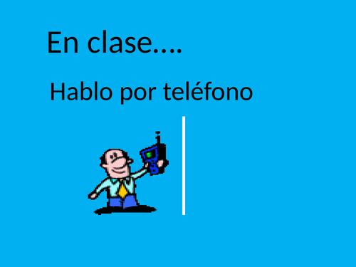 Spanish Classroom Activities with negative - Mira 1
