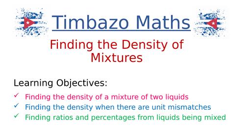Density of a Mixture of Liquids