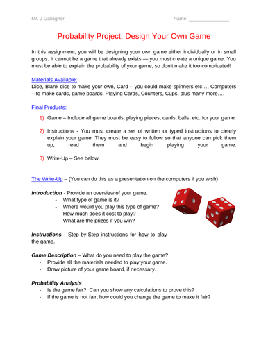Probability Game Design Project