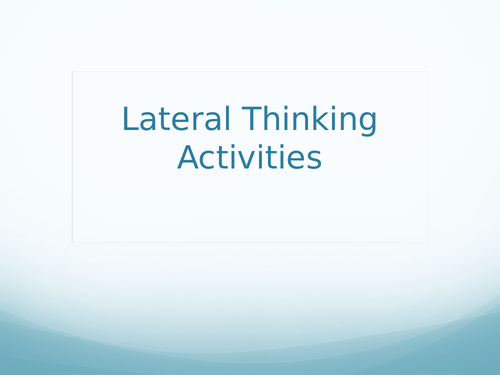 Lateral Thinking Activities