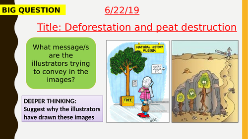 AQA new specification-Deforestation and peat destruction-B18.4