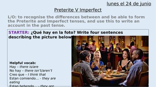 Preterite V Imperfect tense