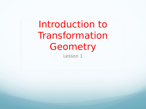 Transformation Geometry Resources