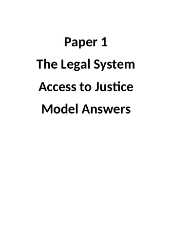 Access to Justice Model Answer Booklet.
