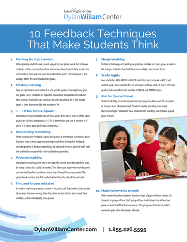 Marking and Feedback Teacher Learning Community