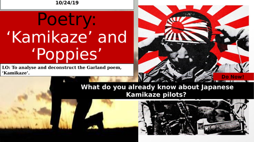 AQA Power and Conflict Unit: Kamikaze and Poppies.