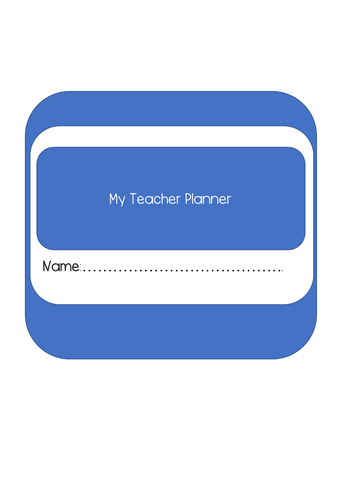 Teacher Planner - Ideal for Trainee/ NQT