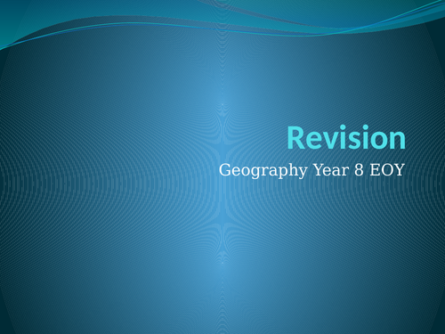 Year 8 Geography Revision