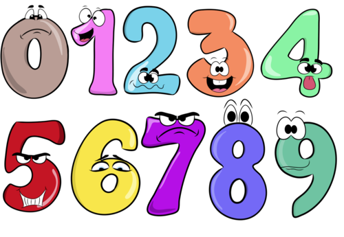 Numbers (0-9)- Cliparts Creator Kit- For Personal or Commercial Use
