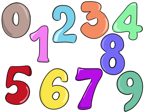 Numbers (0-9)- Clip Arts Creator Kit: ADD-ON- For Personal or Commercial Use