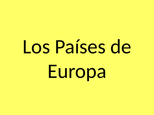 Los paises - Countries in Spanish ppt presentation - Mira 1