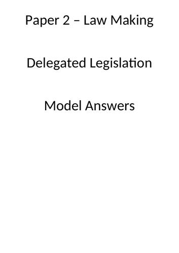 delegated legislation model answers booklet
