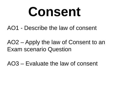 Defences - Duress, Necessity, Consent