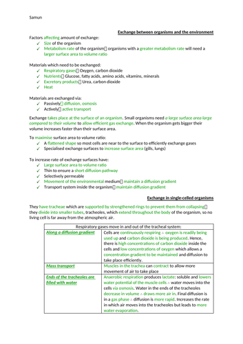 AQA Biology section 3 notes