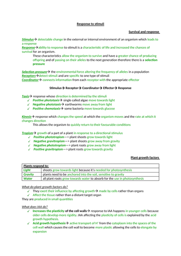 AQA Biology section 6 notes