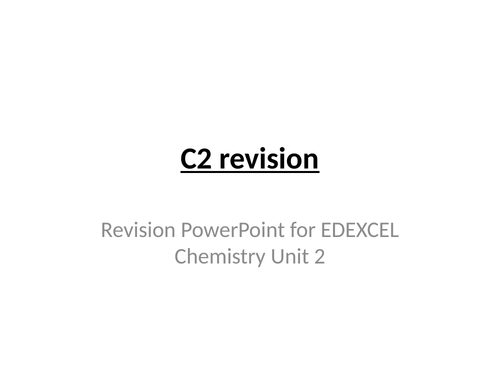 Chemistry notes and presentations