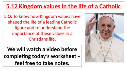 AQA B GCSE - 5.12 - Kingdom values in the life of a Catholic