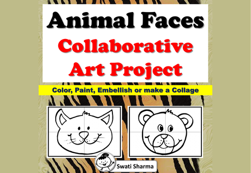 Animal Faces Collaborative Art Project