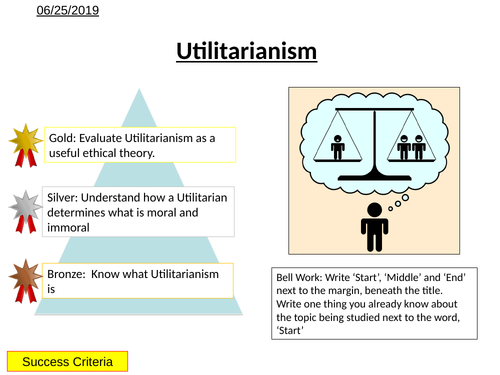 Morality - Utilitarianism