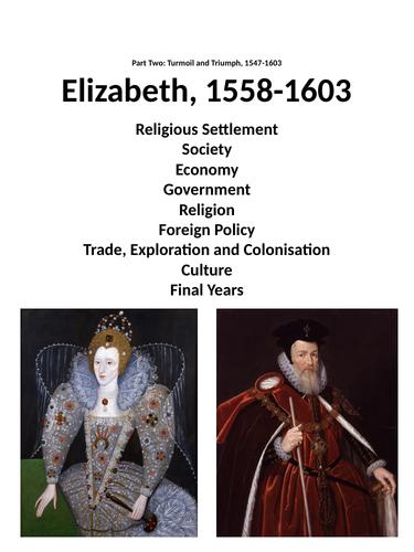 Elizabeth I revision booklet