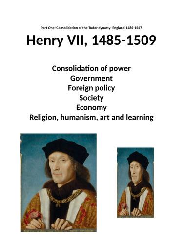 Henry VII Revision booklet