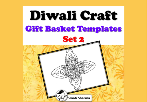 Diwali Craft, Mandala Gift Basket Templates, Set 2