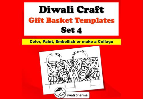 Diwali Craft, Gift Basket Templates, Set 4