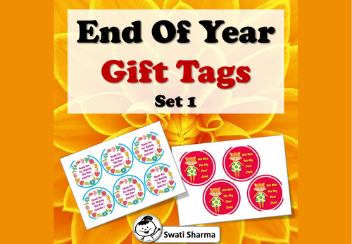 End Of Year Gift Tags, Set 1