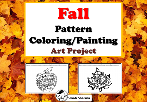 Fall, Leaves, Pattern Coloring, Painting, Art Project