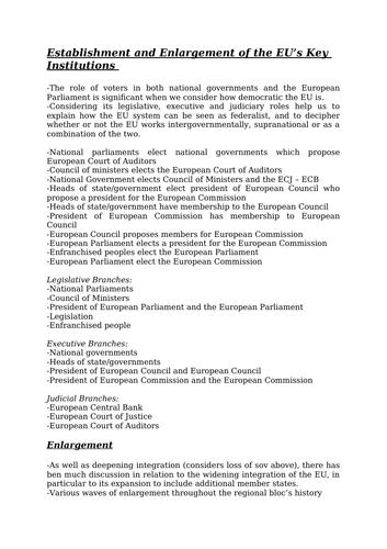 EU (Regionalism) and its impact Revision- Global Politics Edexcel