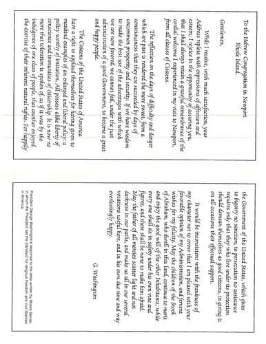 George Washington Letter