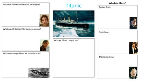 Titanic film worksheet