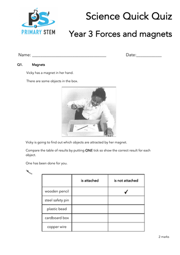 Primary Science Quick Quizzes Year 3