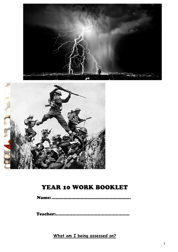 AQA English Literature - Poetry Workbook (for Power and Conflict)