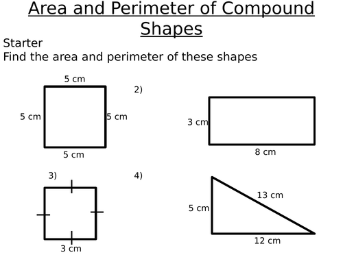 KS3 Area and Perimeter of Compound Shapes