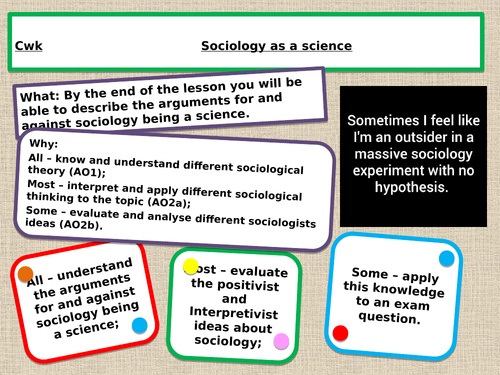 AQA A level Is sociology a science?