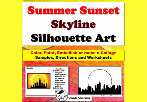 Fall, Summer, Sunset Skyline, Cityscape, Silhouette Art Project