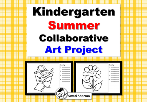 Kindergarten Summer Collaborative Art Project/Painting/Coloring Activity