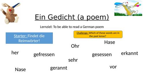 German poem (Helme Heine)