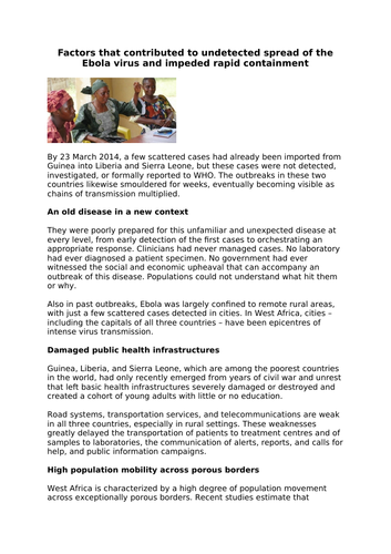 AQA GCSE 9-1 Infection and response L1- Communicable disease