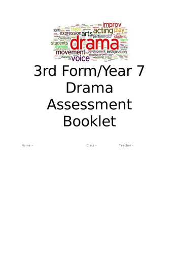 Third Form Drama Assessment Booklet