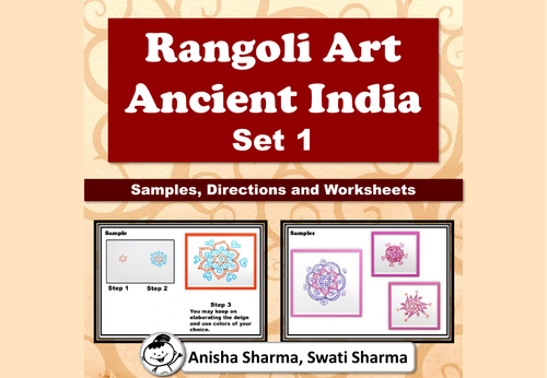 Everyday Art, Rangoli/Mandala from Ancient India, Diwali Motifs, Set 1